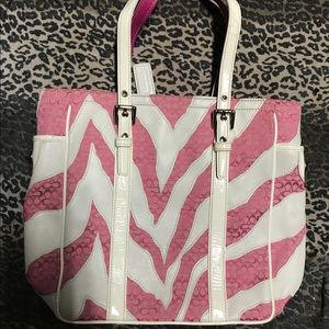 Coach zebra purse